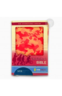 Backpack Bible: New International Version, Italian Duo-Tone, Camo Pink NIV