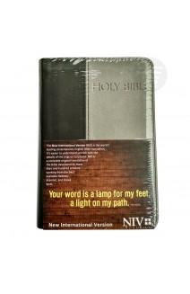 NIV HOLY BIBLE COMPACT BLACK/GRAY (PU)