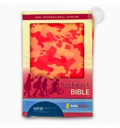 Backpack Bible: New International Version, Italian Duo-Tone, Camo Pink NIV