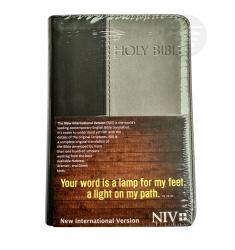 NIV HOLY BIBLE COMPACT BLACK/GRAY (PU)