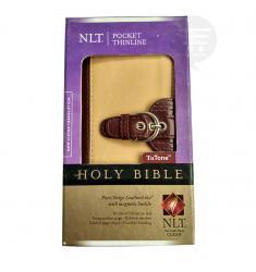 NLT POCKET THINLINE BUCKLE TAB HOLY BIBLE